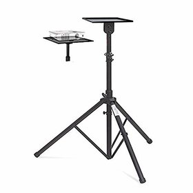 ELCOR Projector Floor stand Min.4ft - Max 6ft Adjustable from the Ground with Grip Belt