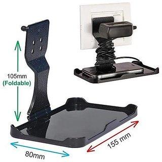Love4Ride Modern Black Plug Mobile Charger Holder Set of 2