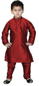 Sbn Ethnic Maroon Kurta And Payjama Set For Boys