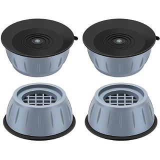 Shopper52 Washer Dryer Anti Vibration Pads Fridge, Washing Machine, Cooler Leveling Feet with Suction Cup-4PCPAD