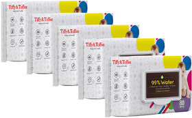 Tiffy  Toffee 99 Water Baby Wet Wipes (Pack of 5 x 80's)