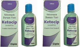 Ketocip shampoo for Anti-Dandruff (Pack of 2 pcs. ) 100 ml each