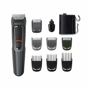 Philips MG3747/15, 9-in-1, Face, Hair and Body - Multi Grooming Kit. Self Sharpening Stainless Steel Blades, No Oil Nee