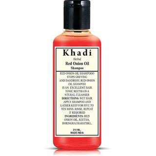 Khadi Herbal Red Onion Oil Shampoo 210 ml