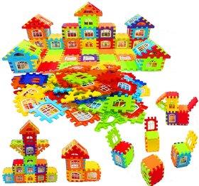 Denzcart Building Blocks for Kids , Big Size House Building Blocks with Windows (72 Pcs Blocks)
