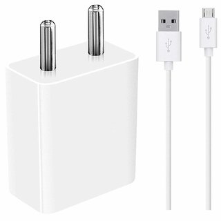Xeanco Fast Charging Adapter, Wall Charger with Micro USB Cable (White)