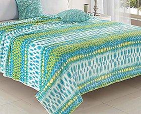 Status Winter Bedsheet for Double Bed/Warm Polar Fleece Blanket/Mink Blanket/Green/Size-7.5 Feet X 8.3 Feet