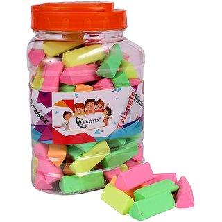 SunriseCar Colourful Eraser, without jar ( Pack Of 100 Pcs)
