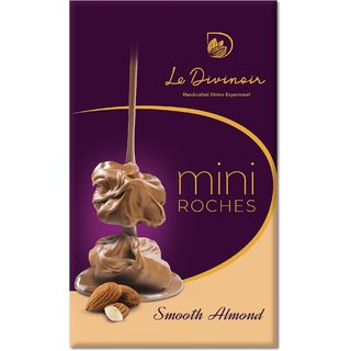 Le Divinoir  Handcrafted Pure Mini Smooth Almond Roches -No Vegatable Fat, 75g (8 Roches)
