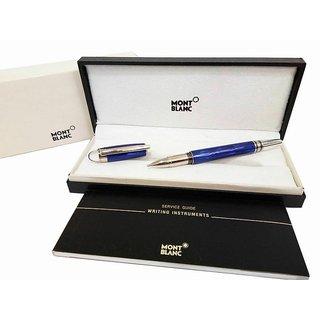 Mont Starwalker Cool Blue Rollerball blanc Pen- Spl Christmas Gift
