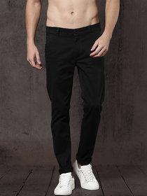 Freaky Black Casual Trouser for Men