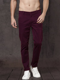 Freaky Mehroon Casual Trouser for Men