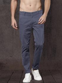 Freaky Drak Grey Casual Trouser for Men