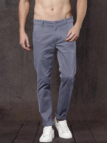 Freaky Light Grey Casual Trouser for Men