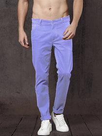 Freaky Sky Blue Casual Trouser for Men