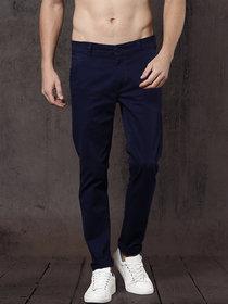 Freaky Navy Casual Trouser for Men