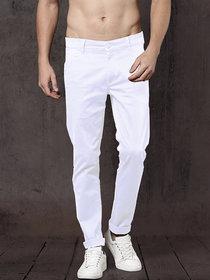 Freaky White Casual Trouser for Men