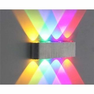 DVLIGHT 8W LED Up Down Wall Sconce Lighting, Multicolour
