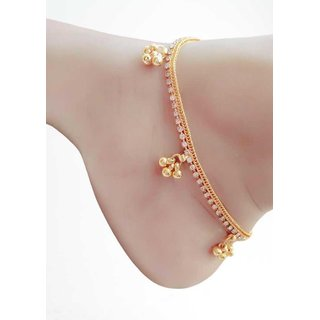 Indian New Gold Traditional Payal Anklets