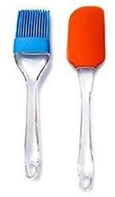 Silicone Spatula And Pastry Brush Set - For Cake Mixer, Decorating, Cooking, Baking, Glazing