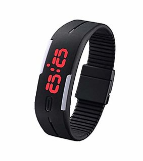 Ultra Thin Silicon LED Digital Sports / Gym/ Jogging Watch LED Touchscreen Watch