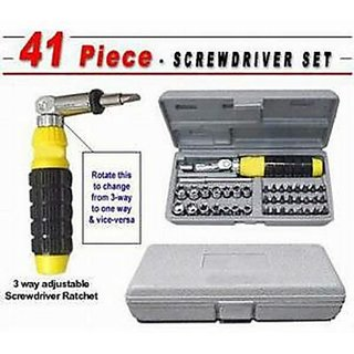 Seller5253 Tool Kit 41pc Combination Screwdriver Set with Bits Sockets