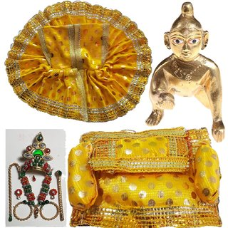 Completely Handmade Shringaar Set With Brass Laddu Gopal