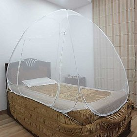 Healthgenie Mosquito Net Single Bed foldable (White)