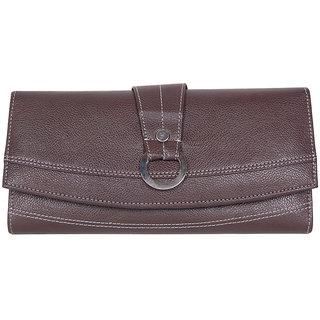 Best Qualty Of Brown Pu Leather Ladies Wallets LW0510BRPU
