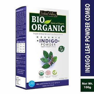 Indus Valley Bio Organic Indigo Powder 100 G