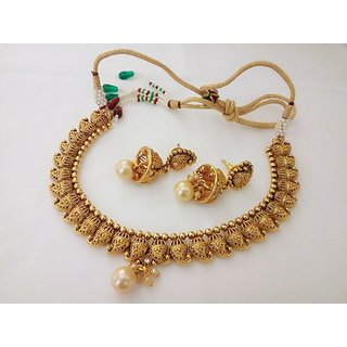 imitation jewelry indian fashion necklace set bollywood gold plated  traditional set