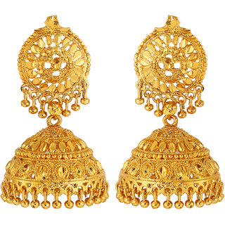 GoldNera Gold Plated Traditional Jhumki for Women