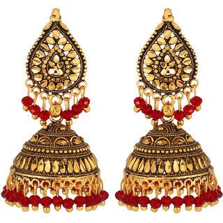 GoldNera Antique Alloy Jhumki Earring-GoldNera096