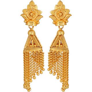 GoldNera Brass Drop Earring-GoldNeraER00013