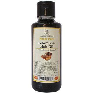 Khadi Pure Herbal Triphala Hair Oil - 210ml