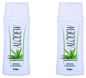 Adidev Herbals Aloe Dew Skin Whitening Lotion (Pack of 2) 400 ml