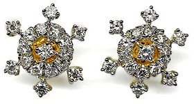 Djewels Designer Gold Diamond Earring