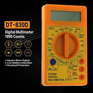 DT-830D Mini Digital Multimeter With Buzzer Overload Protection Safety Voltage Ampere Ohm Tester Probe DC AC LCD