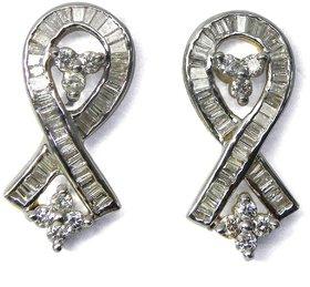 Djewels Contemporary Wedding Diamond Earring