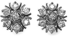 Djewels Designer Stylish White Gold Diamond Earring