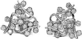 Djewels Swastik White Gold Diamond Earring