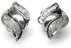 Djewels Designer White Gold Diamond Earring