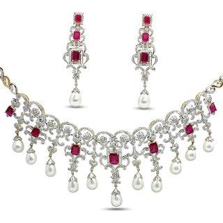 Djewels Stylish Diamond Bridal Necklace Set