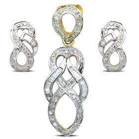 Djewels Designer Diamond Pendant Set