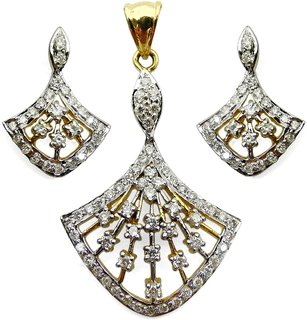 Djewels Dazzling Diamond Pendant Set