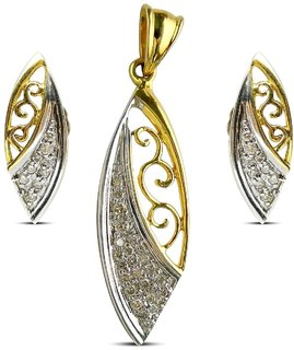 Djewels Charm Gold Diamond Pendant Set