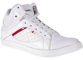 Vandeu Men White Lace-up Casual Shoes