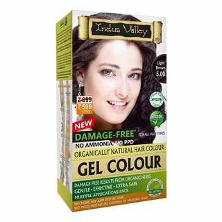 Indus Valley Organically natural Gel hair colour Light Brown