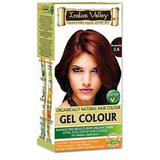 Indus Valley Organically natural Gel colour Burgundy