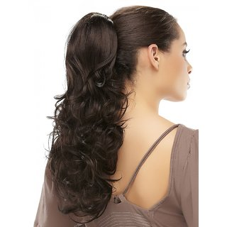 Shanaya Burgandy 18inches Designer Hair Extension  004833